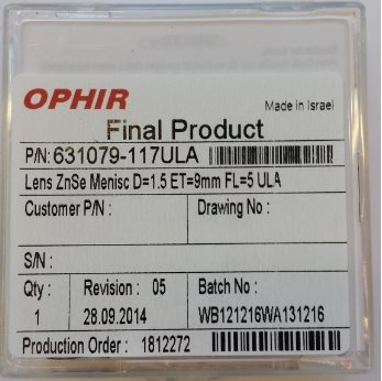 "Ophir ZNSE M.1,5""5,0""MP5,9,0mm Bystronic 4-07475"