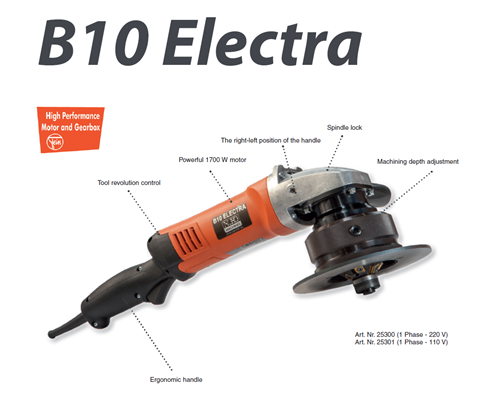 B10 ELECTRA BEVELER -  230V, 50Hz, 1700W Without Head