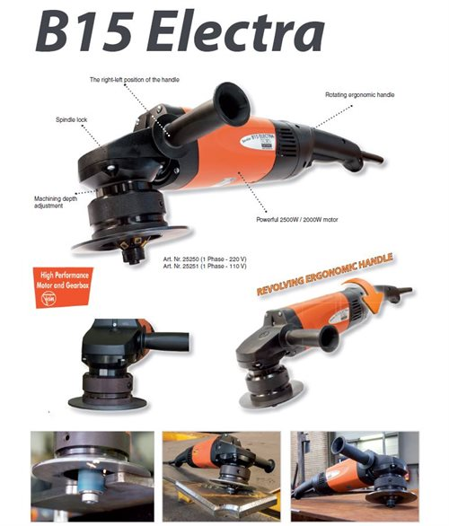 B15 ELECTRA Bevelling  230V, 50-60Hz - 2500W Without head