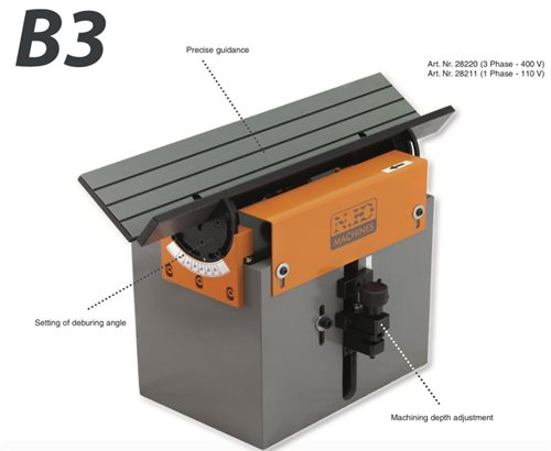 B3 Deburring and bevelling system (3 Phase - 400V)