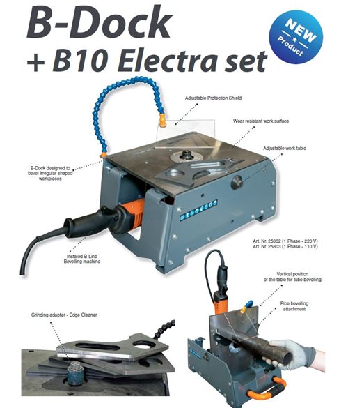 The Beveling System B-Dock+ B10 Electra set, without the milling head (1 Phase - 220 V)