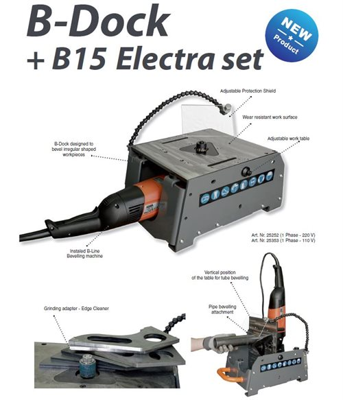 The Beveling System B-Dock+ B15 Electra set, without the milling head (1 Phase - 220 V)
